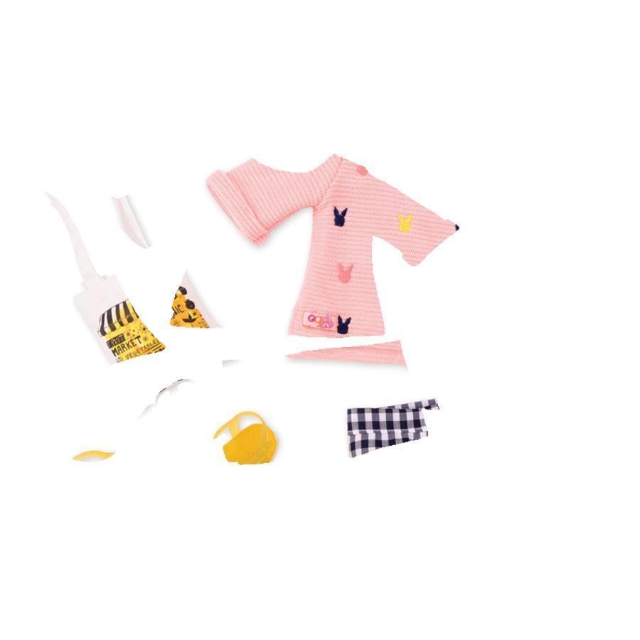 Our Generation -Outfit Rutiga byxor med tröja och väska