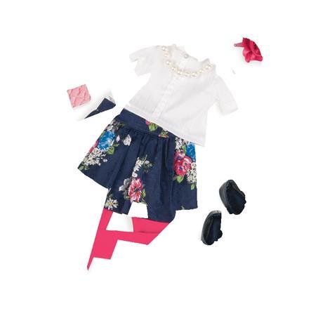 Naše generace - Outfit Deluxe květinová sukně s halenkou