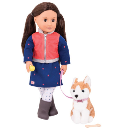 Our Generation - Puppe Leslie mit Hund