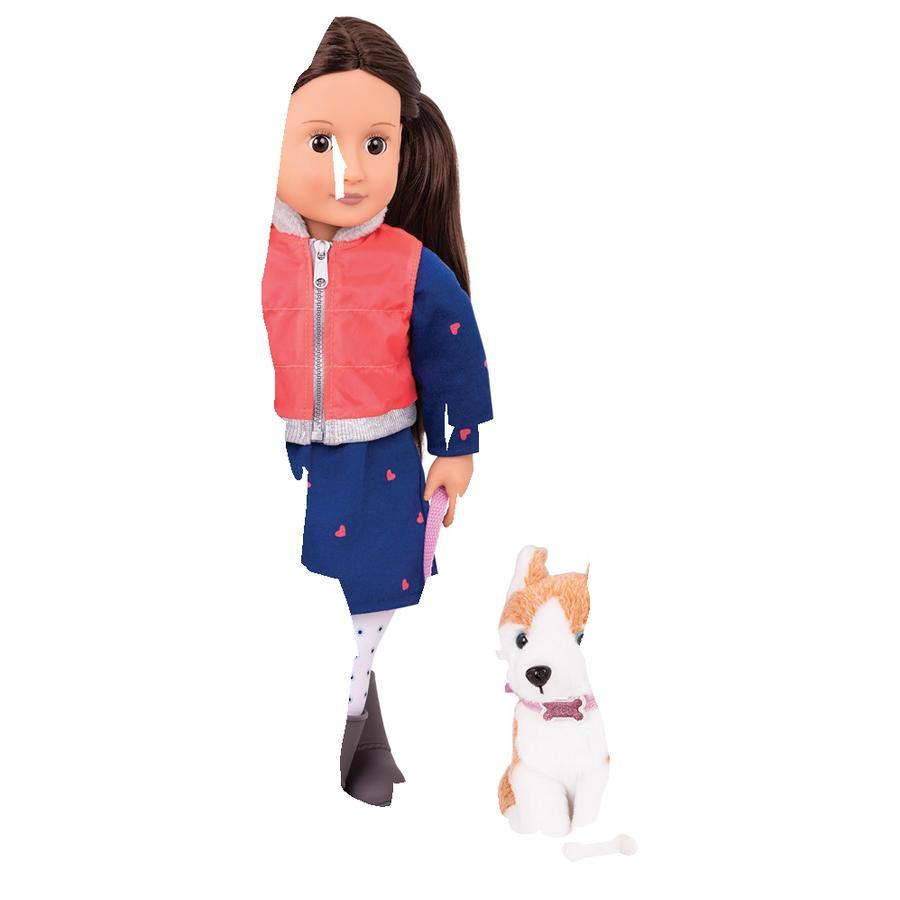 Our Generation - Poupée Leslie et peluche de chien