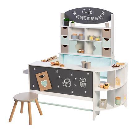 MUSTERKIND Kaufl aden und Cafe Arabica, hvit / mynte / varmgrå