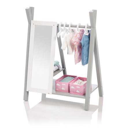 MUSTERKIND skříň pro panenky Barlia, šedá / bílá