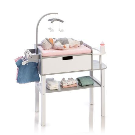 MUSTERKIND Mueble cambiador para muñecas Barlia, gris/blanco