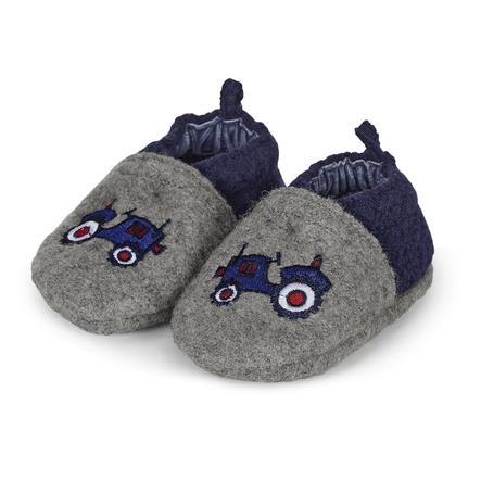 Sterntaler Chaussures bébé garçon en feutre gris fumé