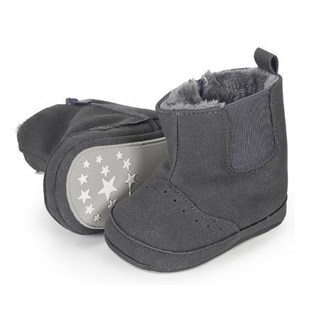 Sterntaler Girls Baby-Schuh Nubuk-Lederimitat eisengrau
