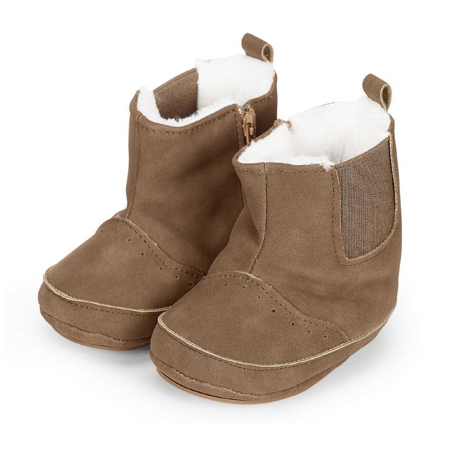 Sterntaler Girls Baby Shoe Nubuck Skóra Skóra Imitacja orzecha laskowego