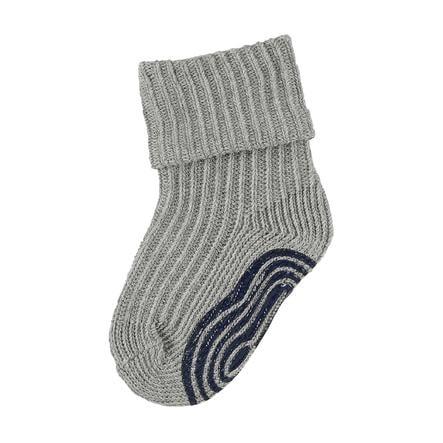 Sterntaler poikien ABS-sukat karkeat neulotut hopeanväriset