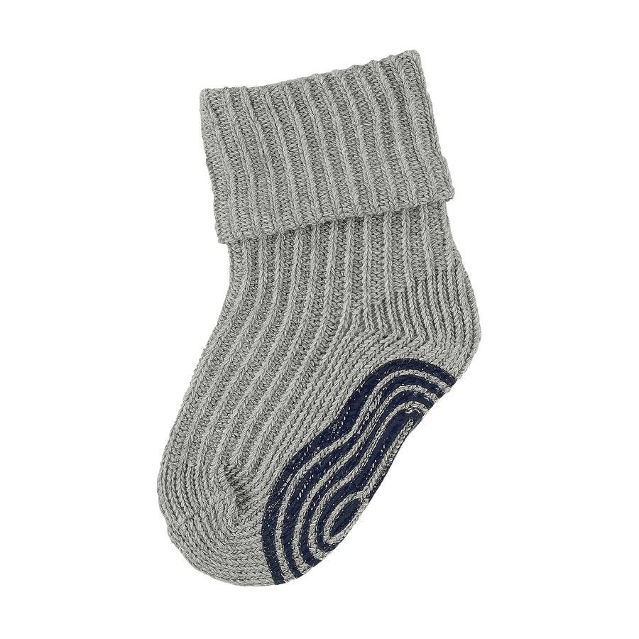 Sterntaler Chaussettes antidérapantes enfant tricot mélange argenté