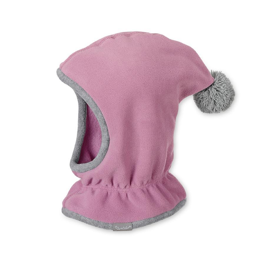 Sterntaler Chłopięca czapka z szalikiem jasnopurpurowa.