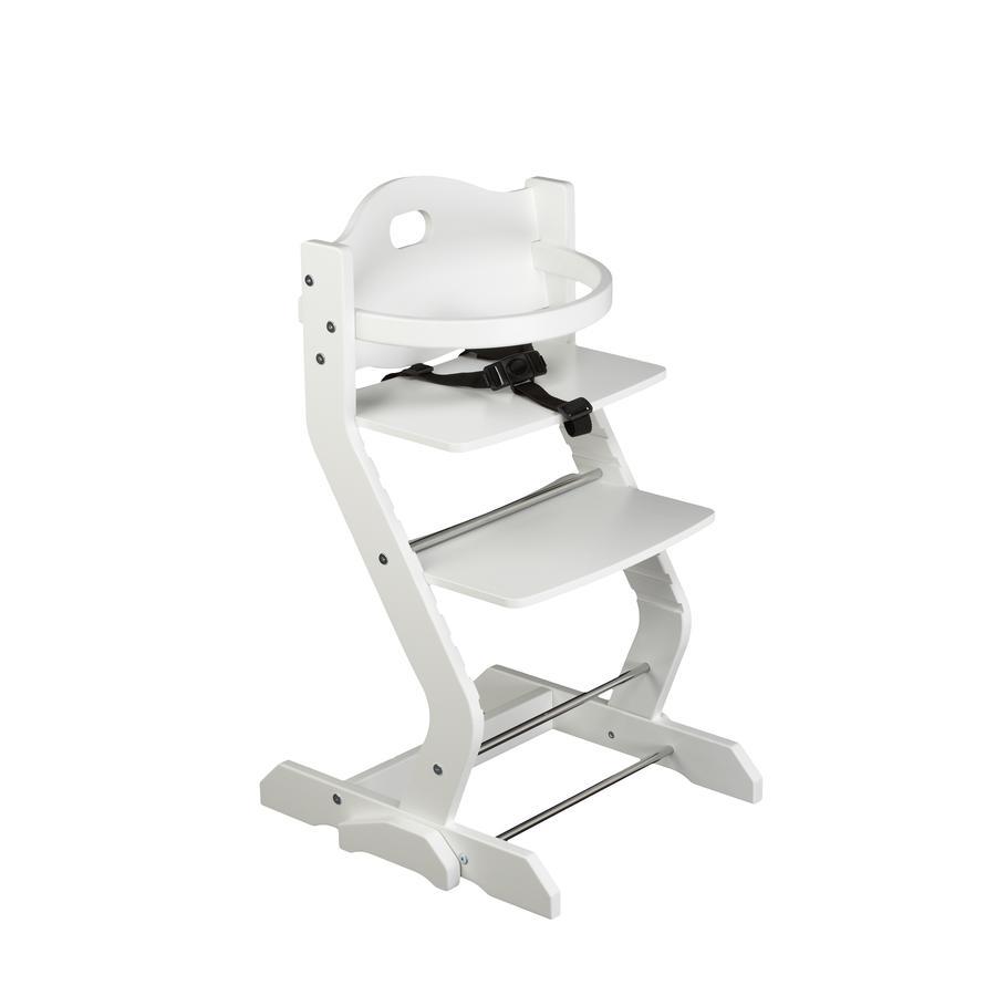 tiSsi® Chaise haute enfant à arceau blanc
