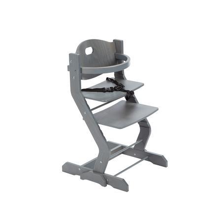 tiSsi® Seggiolone con bracciolo di sicurezza grigio