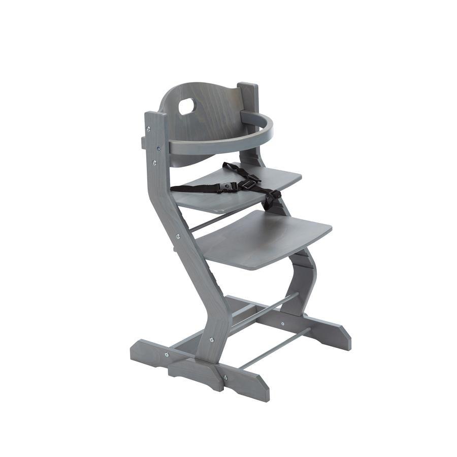 tiSsi® Jídelní židlička s bezpečnostním madlem šedá