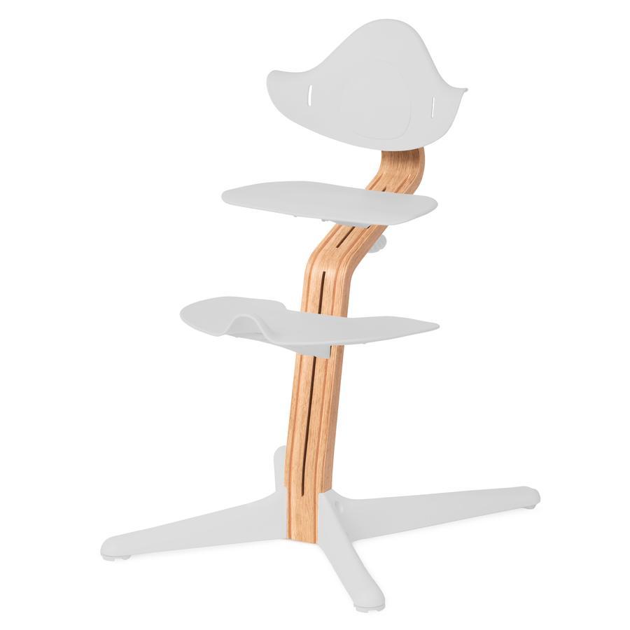 nomi by evomove Support chaise haute enfant chêne/chêne laqué naturel