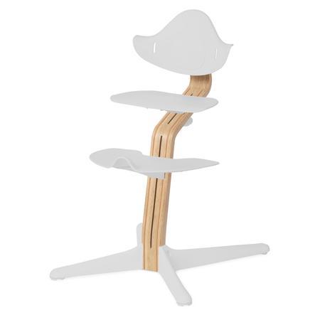 nomi by evomove Support chaise haute enfant chêne/hêtre laqué blanc