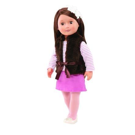 Naše generace - panenka Sienna s hnědou vestou, 46 cm