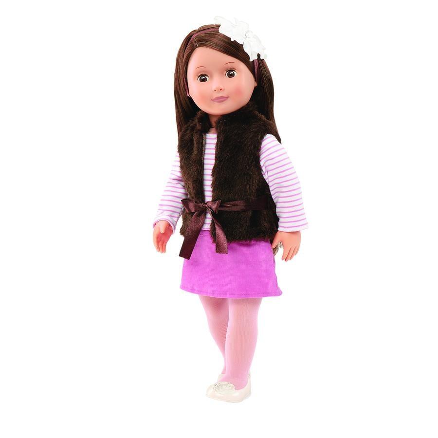 Our Generation - Dukke Sienna med brun vest, 46 cm