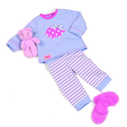 Our Generation - Outfit Schlafanzug mit Schweinchen
