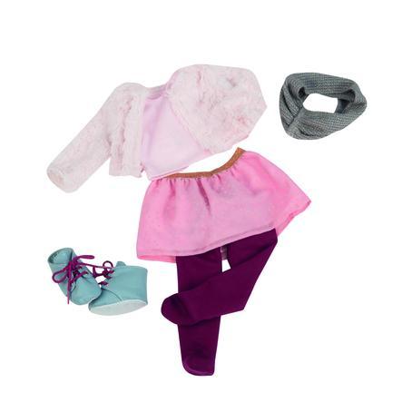 Our Generation - Tenue pour poupée manteau fourrure blanc, jupe