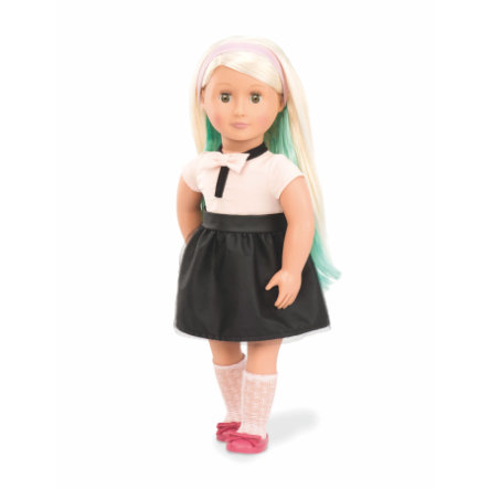 Our Generation - Bambola stile Amya con gesso per capelli, 46 cm