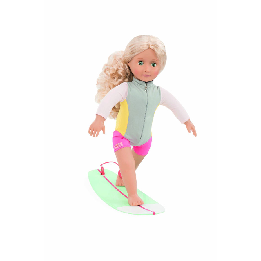 Our Generation - Puppe Coral Deluxe Surferin, 46 cm
