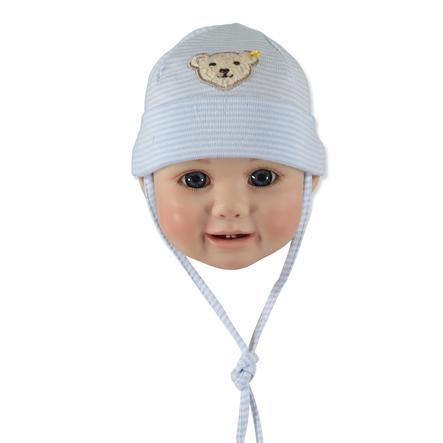 STEIFF Drenge baby-hue, stribet, lys blå