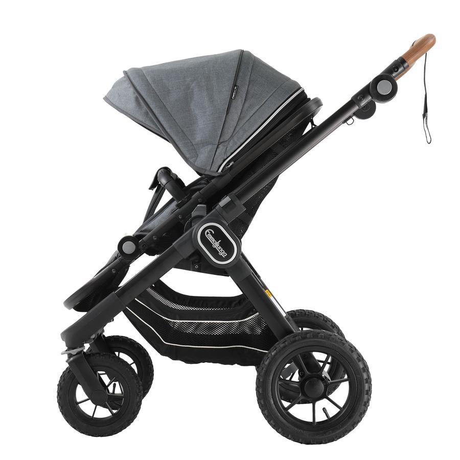 Emmaljunga Kinderwagen NXT 90 Ergo Black Outdoor AIR/Lounge Grey