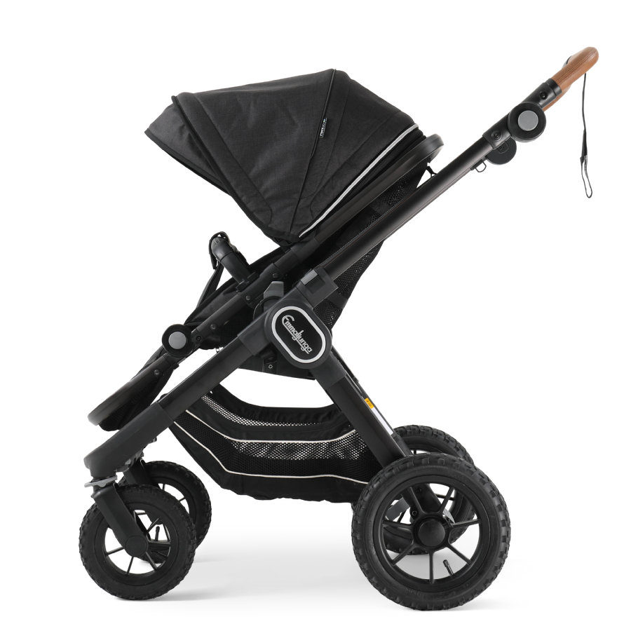 Emmaljunga Kinderwagen NXT 90 Ergo Black Outdoor AIR/Lounge Black
