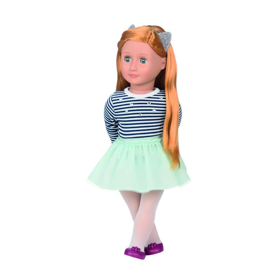 Our Generation - Puppe Arlee 46 cm mit gestreiftem Top und Tütü
