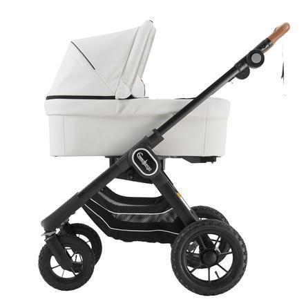 Emmaljunga Kinderwagen NXT 90 mit Wanne Black Outdoor AIR/White Leatherette