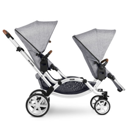 ABC DESIGN Poussette double Zoom graphite grey 2020 | roseoubleu.fr