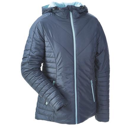 mamalila Pikowana kurtka z niebieskim gołębimi włosami.
