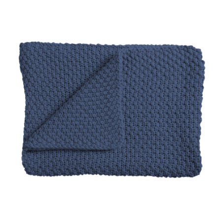 Schardt Baby Strickdecke 75  x  100 cm dunkelblau