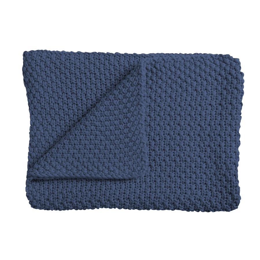 Schardt Couverture bébé tricot 75x100 cm bleu foncé