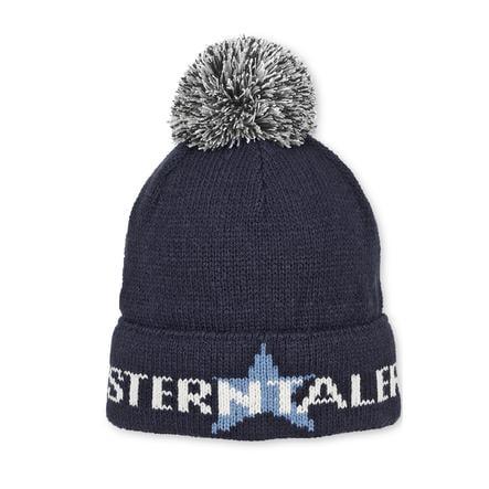 Sterntaler Chłopcy z dzianiny, czapka z dzianiny marine