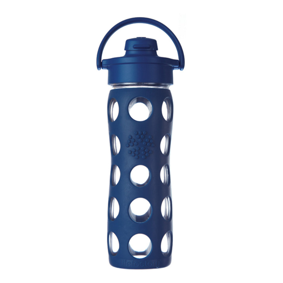 lifefactory Trinkflasche Flip Top Cap midnight blue 475 ml