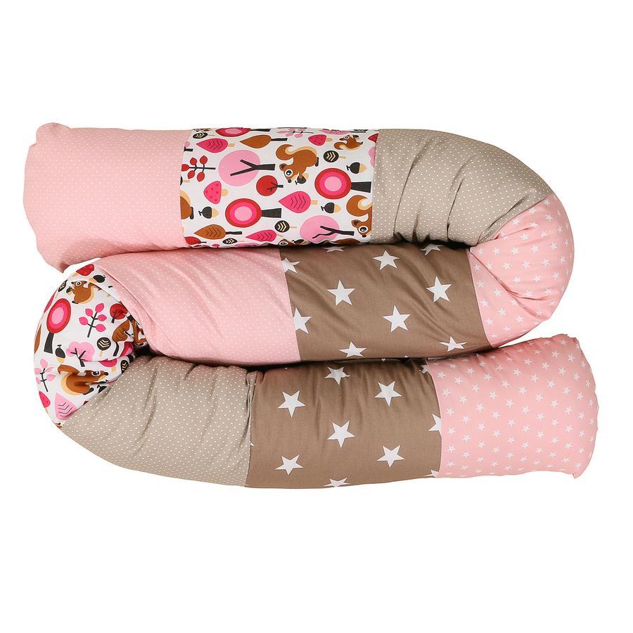 Ullenboom Tour de lit traversin enfant écureuil sable 200 cm