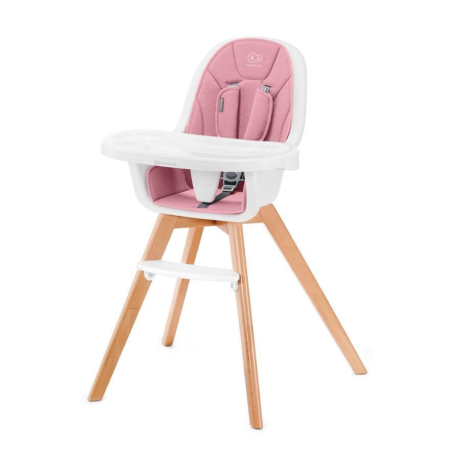 Kinderkraft Chaise haute évolutive Tixi 2en1 rose
