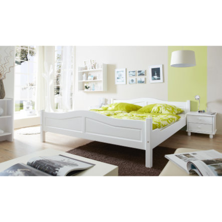 TiCAA Doppelbett Rita 140 x 200 cm Weiß