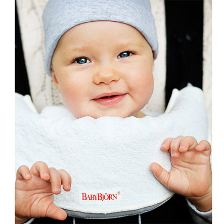 BABYBJÖRN Bavoir pour porte-bébé blanc