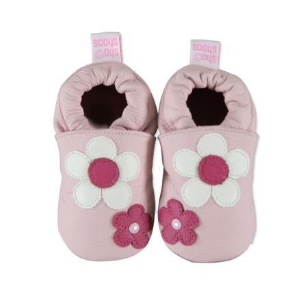 SHOOSHOOS Girls Baby Buciki do raczkowania FLEUR ROSE DAISY