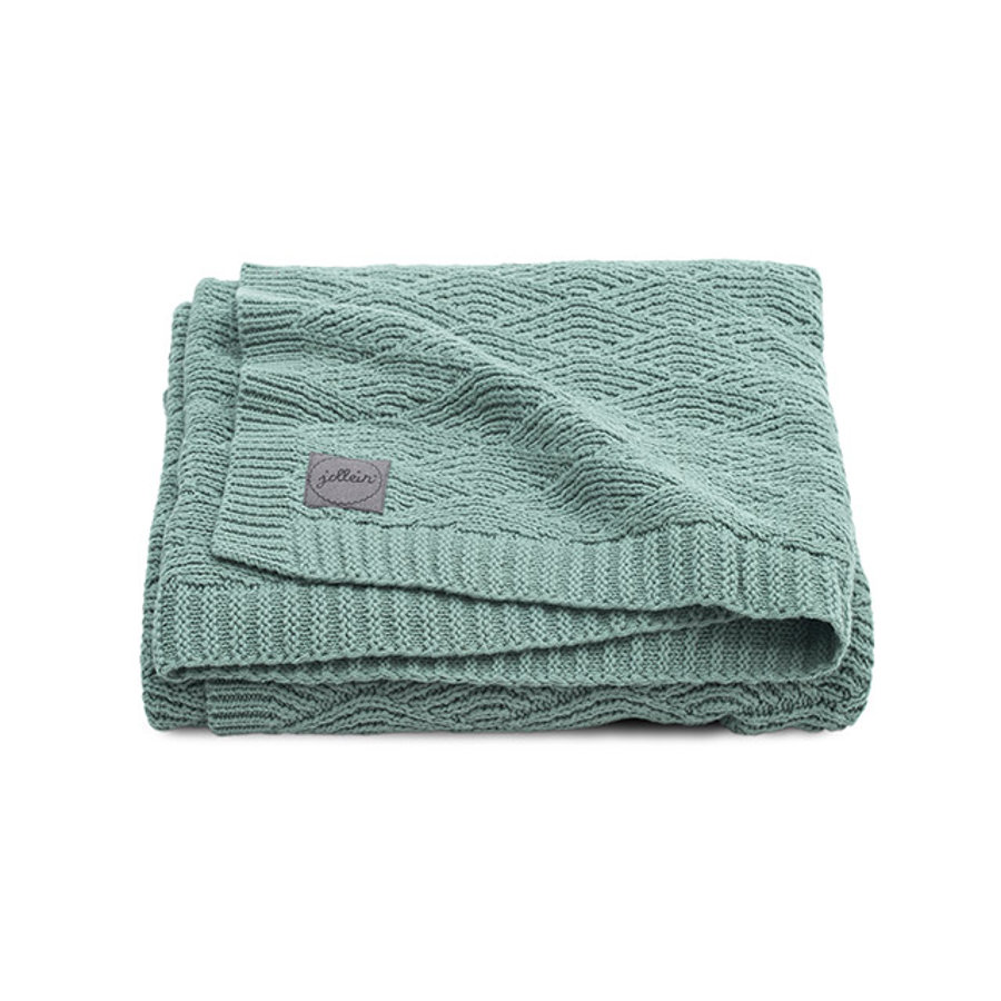 jollein Coperta River in maglia coperta in maglia di frassino green 75 x 100 cm