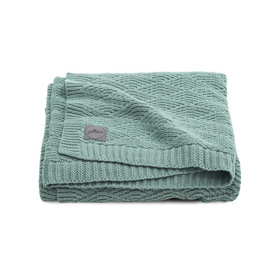 jollein Kocyk River knit ash green 75 x 100 cm