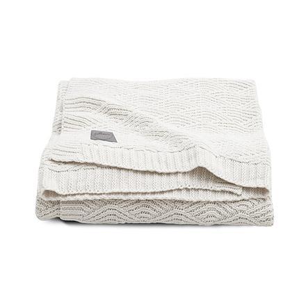 jollein Couverture bébé tricot River knit cream white 75x100 cm