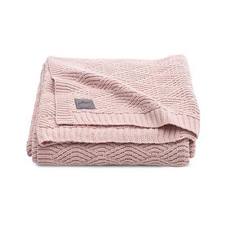 jollein Strickdecke River knit pale pink 100 x 150 cm