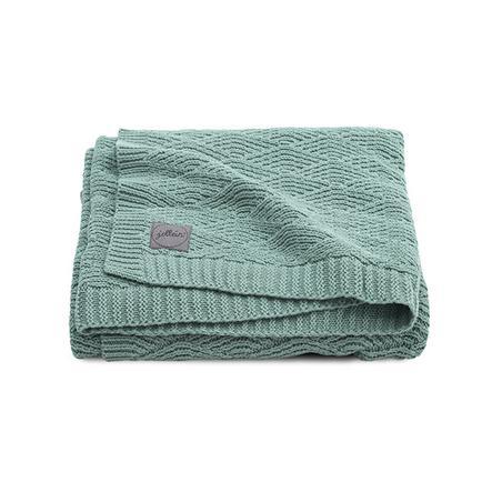 jollein Strickdecke River knit ash green 100 x 150 cm
