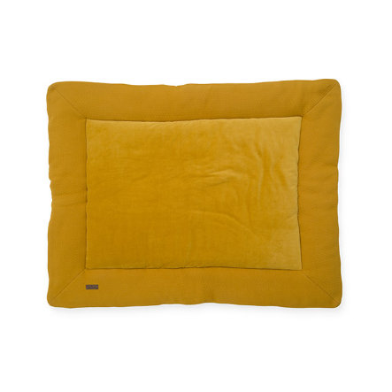 jollein KrabbeldeckeBrick velvet mustard 80x100 cm