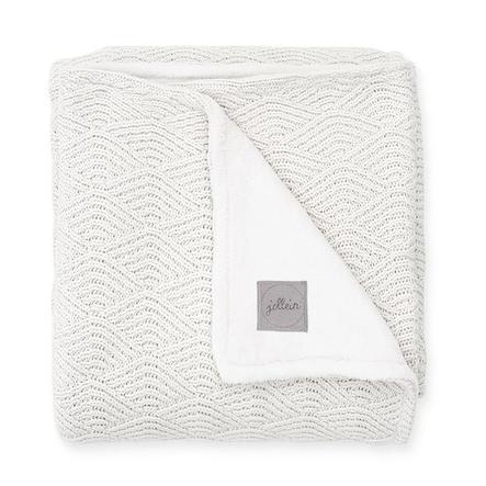 jollein Strickdecke River knit cream white coral fleece 75 x 100 cm