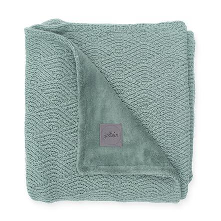 jollein Kocyk River knit ash green coral fleece 100 x 150 cm