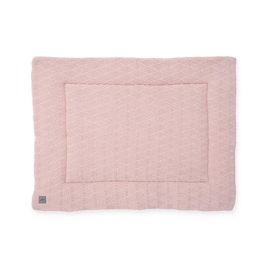 jollein Mata do raczkowania River knit pale pink 80x100 cm