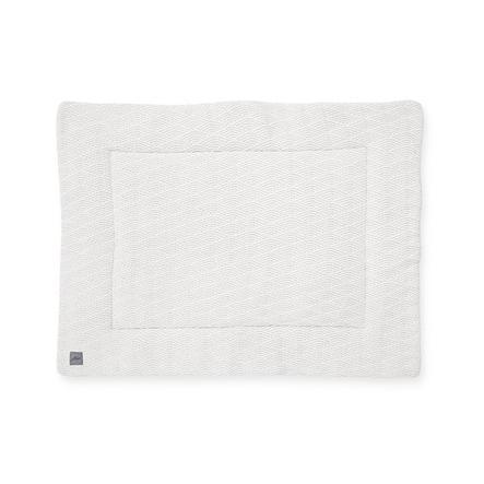 jollein Prošívaná přikrývka River pletená krémová bílá 80x100 cm